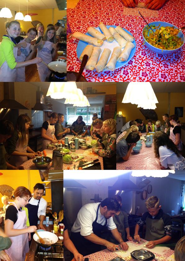 Lekker met je vrienden en vriendinnen hapjes maken bij Nasi Kuning